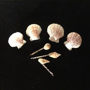 Set of 7 Sea Shell Hair Accessories